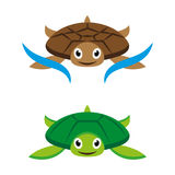 Turtles. A set of cute cartoon turtles Royalty Free Stock Image