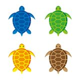 Turtles 5. A set of sea turtle icons Royalty Free Stock Photography