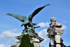 Turul,匈牙利的标志,反对蓝天 库存照片