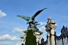 Turul,匈牙利的标志,反对蓝天 免版税库存照片