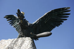 Turul bird monument in Hungary Tatabanya. The turul is a mythica Royalty Free Stock Image