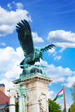 Turul Statue on Habsburg Gates  in Budapest Royalty Free Stock Photography