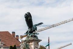 Turul-Statue im Schloss von Buda Lizenzfreie Stockfotos