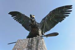 Turul statue of Tatabanya. Hungary Royalty Free Stock Photo