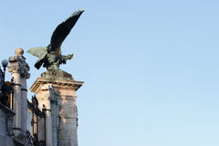 Turul-Vogel im königlichen Schloss, Budapest Stockbild