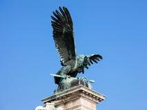 Turul-Vogel im königlichen Schloss, Budapest, Ungarn Lizenzfreies Stockfoto