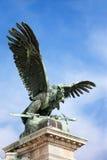 Turul Vogel-Statue in Budapest Stockbild