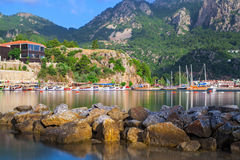 Turunc sea bay view. Turkey royalty free stock images
