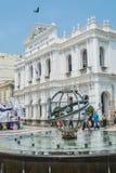 Turyści chodzą wokoło Senado kwadrata w Macau, Chiny Zdjęcia Royalty Free