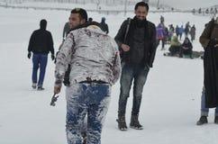 Turyści Cieszą się Przy Gulmarg Kaszmir Baramulla kraju ind zdjęcia stock