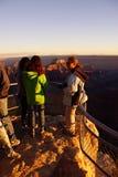 Turyści cieszą się zmierzch od Cesarskiego punktu Obraz Royalty Free