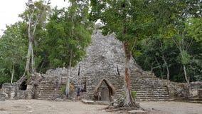 Turyści Coba ruiny zdjęcia royalty free