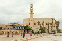 Turyści i miejscowi przy Jaffa starym miastem Obraz Royalty Free
