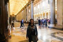 Turyści i wierzący w watykanie, Włochy zdjęcie stock