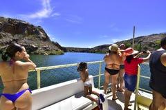 Turyści na catamaran fotografia royalty free