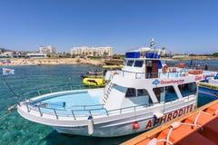 Turyści na rejs łodzi Obrazy Royalty Free