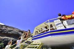 Turyści na rzecznym San Fransisco Brazylia obraz royalty free