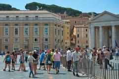 Turyści na St Peter ` s Obciosują w lecie zdjęcia stock