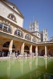 Turyści przy antycznym rzymianinem Kąpać się muzeum, skąpanie, Somerset Obraz Royalty Free