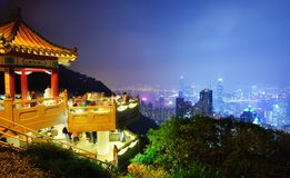 Lwa pawilon na Szczytowy Hong Kong Fotografia Royalty Free