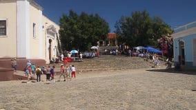 Turyści przy placu Mayor zdjęcie wideo