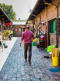 Turyści przy Tradycyjnej medycyny rynkiem w Johannesburg CBD zdjęcie stock