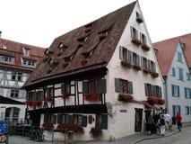 Turyści przyjeżdża przy Ulm, Niemcy obrazy royalty free