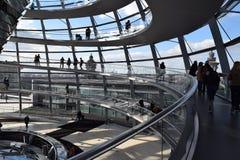 Turyści, Reichstag i Ślimakowate rampy, zdjęcia royalty free