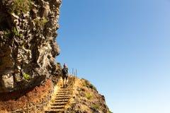 Turyści w górach Zdjęcie Royalty Free