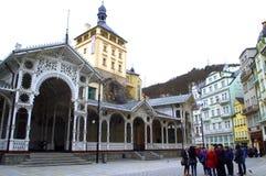 Turyści w Karlovy Zmieniają fotografia stock