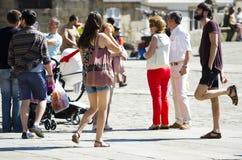 Turyści w mieście Fotografia Stock