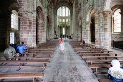 Turyści w nave świętego Michael opactwo Obraz Royalty Free