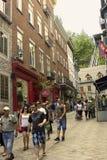 Turyści w Quebec mieście w Kanada obraz royalty free