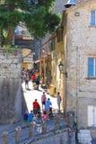Turyści widzią widoki San Marino Fotografia Royalty Free
