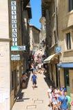 Turyści widzią widoki San Marino Obraz Royalty Free