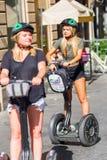 Turyści z Segway w Florencja, Włochy Zdjęcie Stock