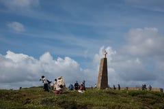 Turyści bierze obrazki przy Cabo da Roca Obraz Stock