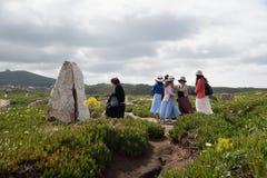 Turyści bierze obrazki przy Cabo da Roca Zdjęcie Royalty Free
