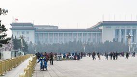 Turyści i widok wielka hala ludowa Obraz Stock