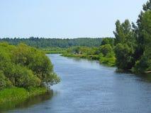 Turyści na Berezina rzece Zdjęcia Royalty Free