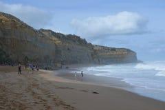 Tury?ci na Gibson krokach wyrzuca? na brzeg przy Campbell parkiem narodowym w Wiktoria Australia zdjęcie royalty free