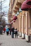 Turyści na ulicie St Petersburg Obraz Royalty Free