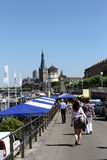 Turyści odwiedza Dusseldorf Obrazy Stock