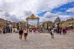 Turyści odwiedza Versailles Zdjęcia Stock