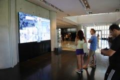Turyści przy akwarium - Barcelona, Hiszpania Obraz Stock
