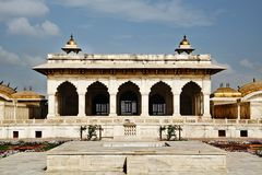 Turyści przy Diwan-E-Khas, Agra fort, Agra, Uttar Pradesh, India Obrazy Royalty Free