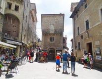 Turyści, San Marino Obraz Stock