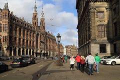 Turyści w Amsterdam, Holandia Zdjęcie Stock