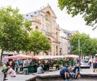 Turyści w Bamberg fotografia stock