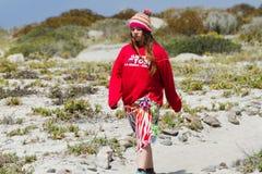 Turyści w Isla Damas, Chile Zdjęcia Stock